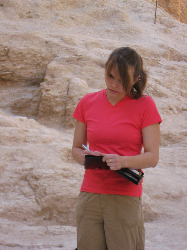 Rebecca Dash in the Valley of the Kings